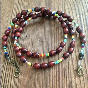 Men's Wood Beach Boho Necklace,  Men's Jewelry